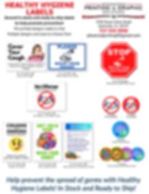 healthy hygiene labels