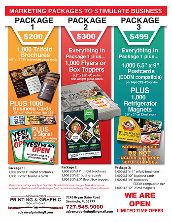 Marketing Stimulus Packages Flyer