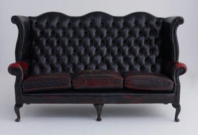 3人掛けソファ(黒)(W188cm ×H108cm ×D82cm)