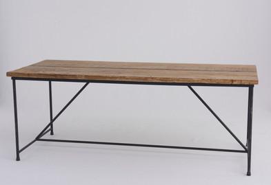 アイアン脚長机木製長机(W190cm ×H71cm ×D83cm)