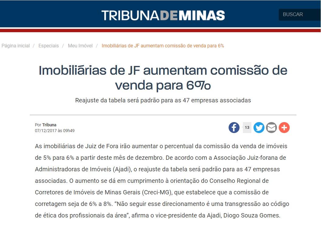 Novas comissões de venda em JF