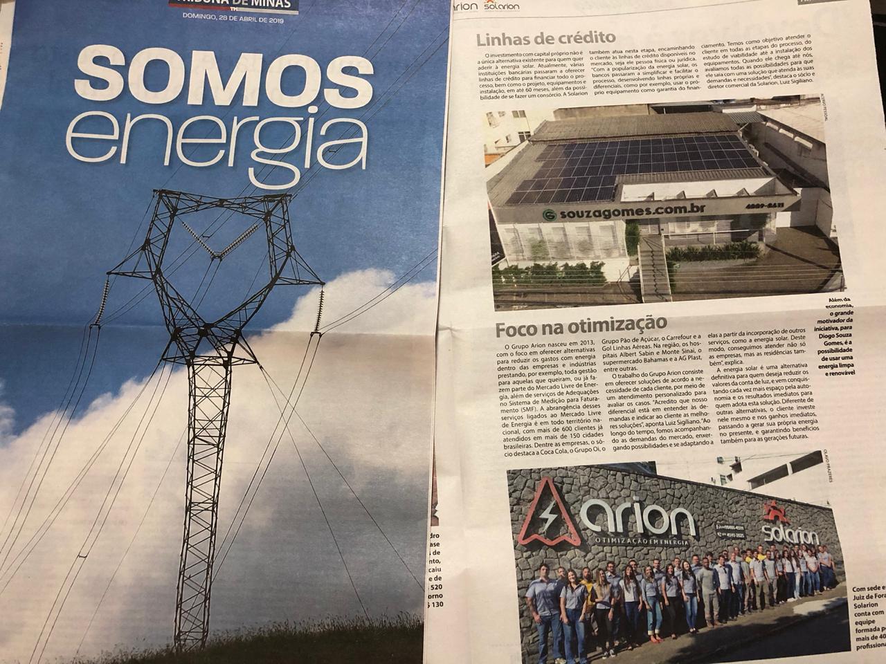 Energia solar na Souza Gomes