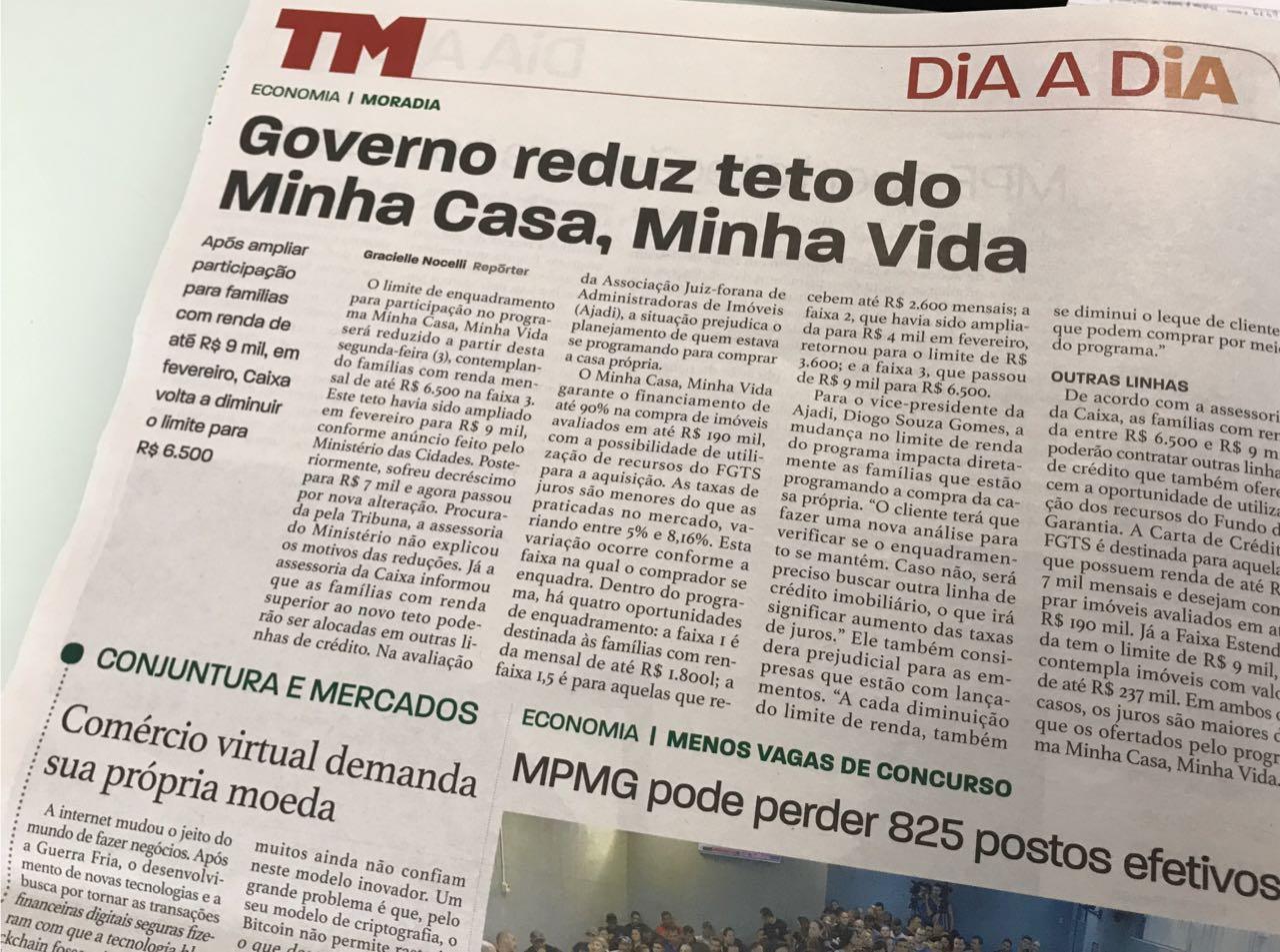 Governo reduz teto de renda do MCMV