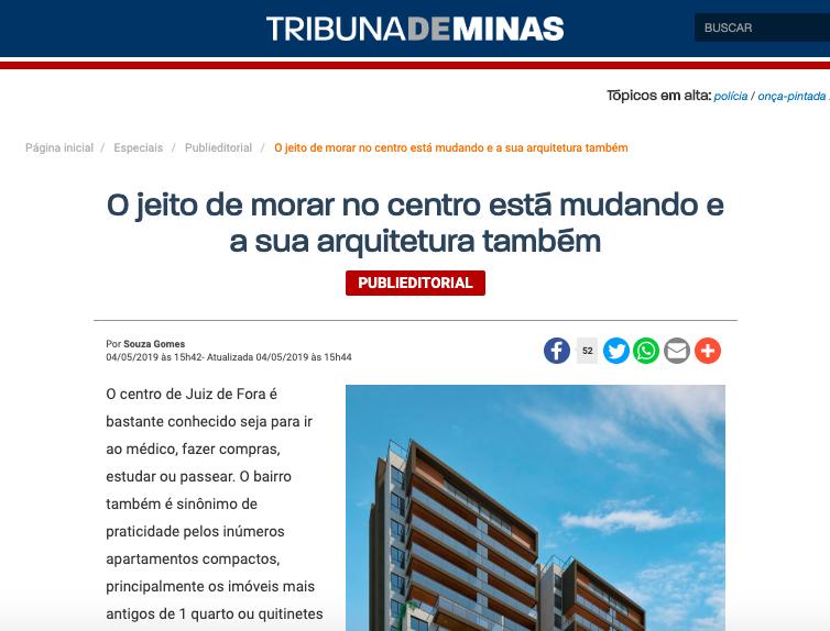 Niva Villela na Tribuna de Minas