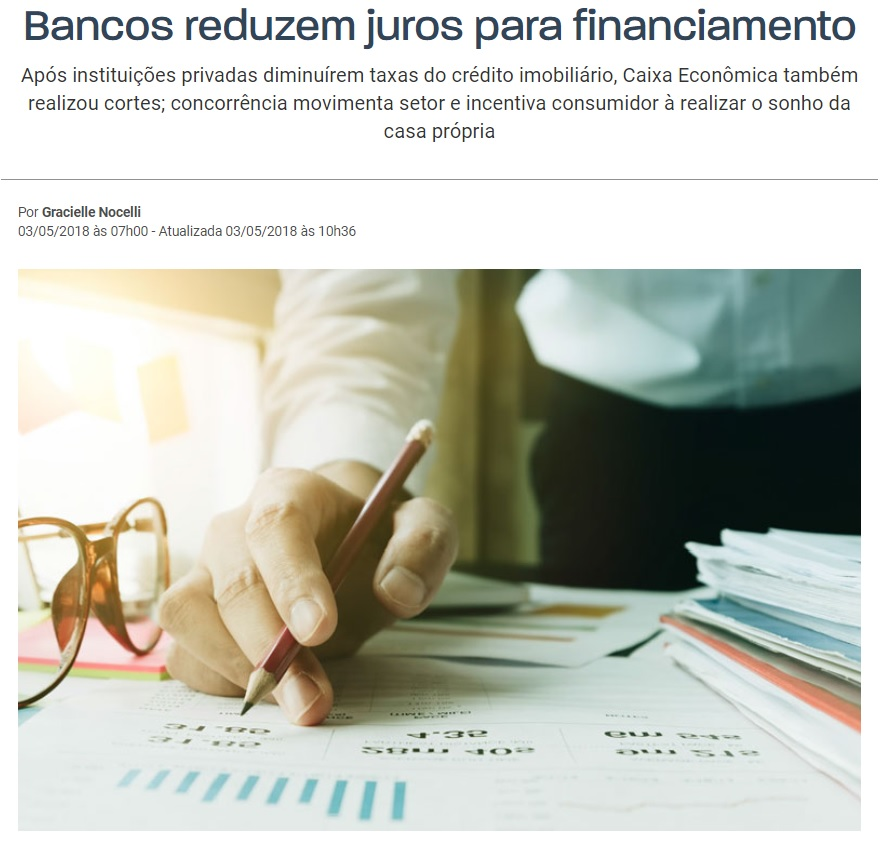 Novas taxas de juros para os cliente