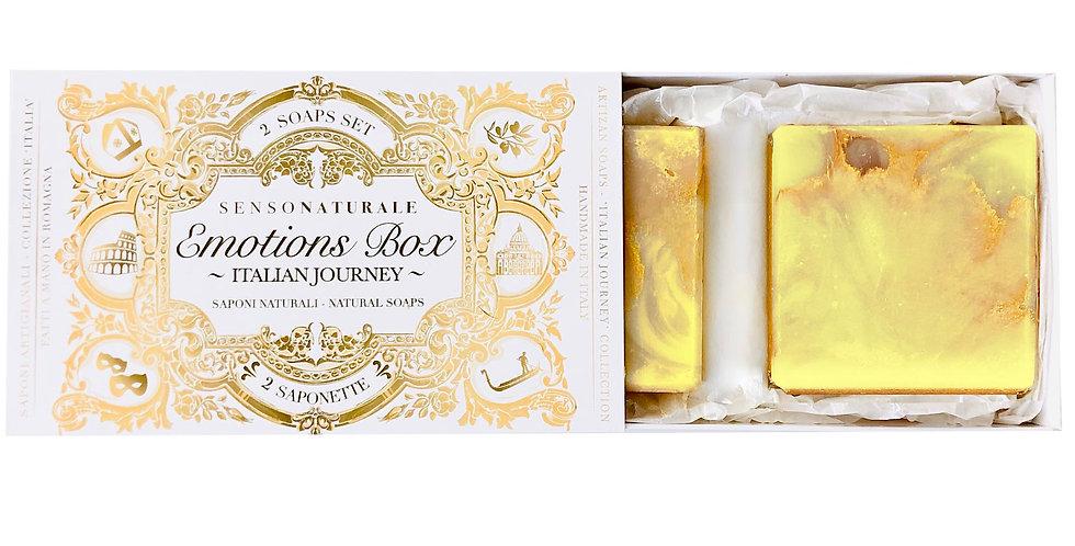 EMOTION BOX - 2 SAPONETTE - Amore a Sorrento (Limoni e Bergamotto)