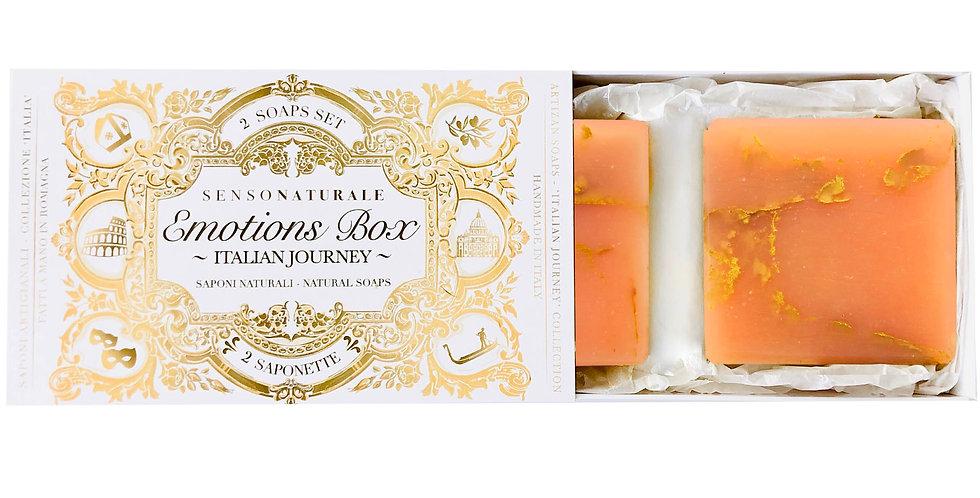 EMOTION BOX - 2 SOAPS - Profumo di Sicilia (Arancia Rossa Siciliana)
