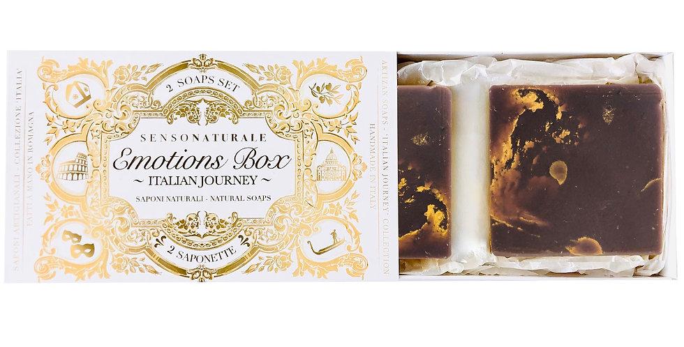 EMOTION BOX - 2 SAPONETTE - Calore di Piemonte (Crème Caramel)