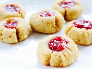 High ProteinRaspberry Jam Cookies!