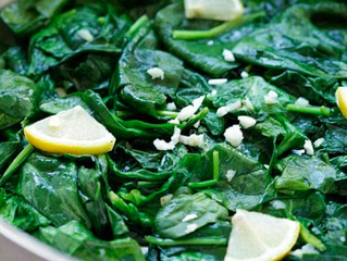 Absolutely Delicious Lemony Spinach
