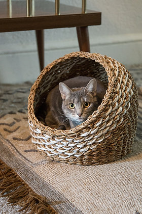 Recycled Sari Cat Basket
