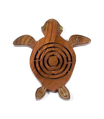 Wooden Labyrinth - Sea Turtle