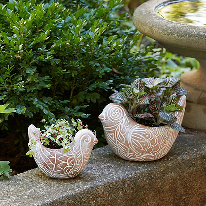 Bird Planters - Small & Large