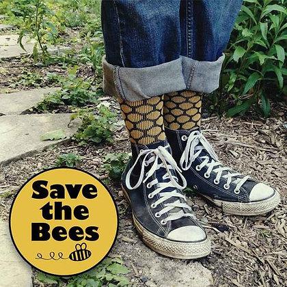 Organic Cotton Trouser Socks - Bee Keeper - Large