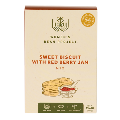 Sweet Biscuit with Red Berry Jam Mix