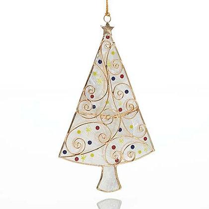 SERRV Capiz Christmas Tree Ornament