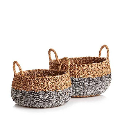 Small & Medium Hogla Two-Tone Baskets