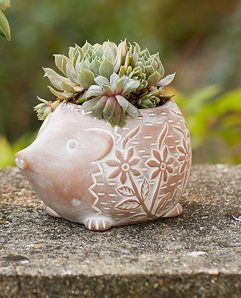 SERRV Happy Hedgehog Terracotta Planter
