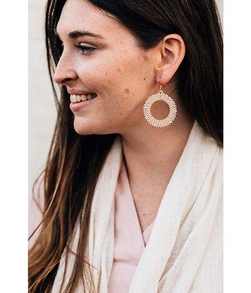Peach Starburst Earrings