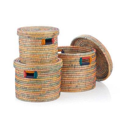 SERRV Round Rainbow Basket - Set of 3