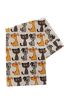 Cats & Dogs Tea Towel