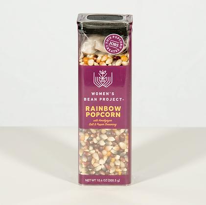 Rainbow Popcorn with Pink Himalayan Salt & Black Pepper Seasoning