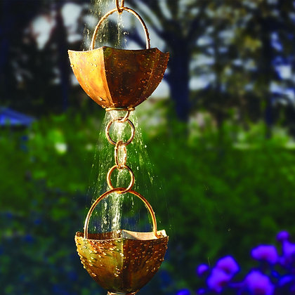 Rain Chain Copper Cups