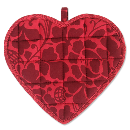 Sweetheart Pot Holder - Prada Red Maroon