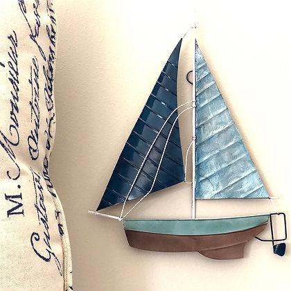Sailboat Wall Decor Blue
