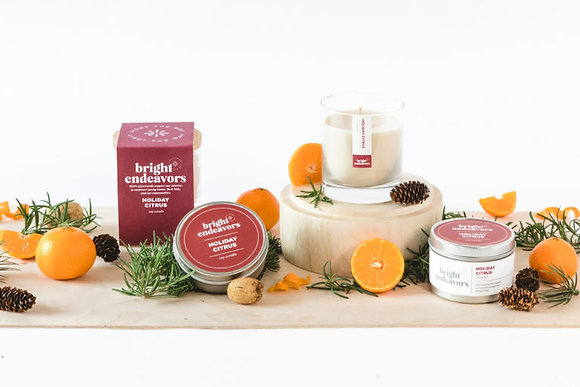 Bright Endeavors Holiday Citrus Soy Candles