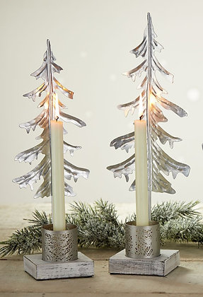 SERRV Silver Pine Candle Stand
