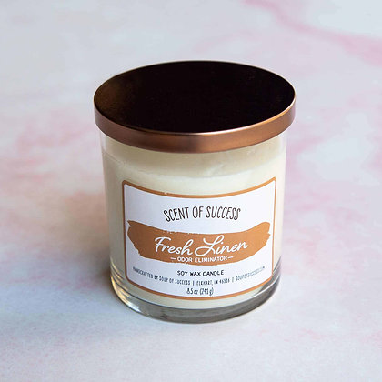 Fresh Linen (Odor Eliminator) Soy Candle