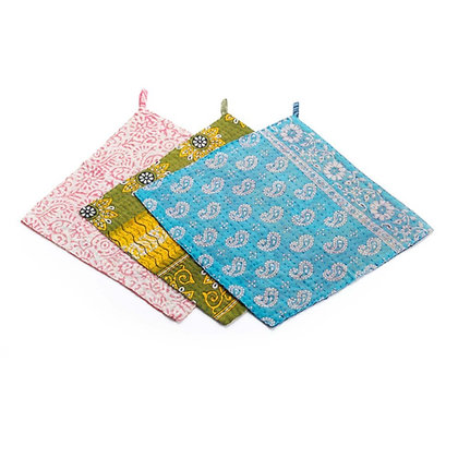 SERRV Kantha Dish Cloths - Set of 3