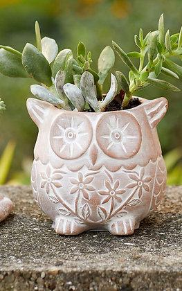 SERRV Who Owl Terracotta Planter