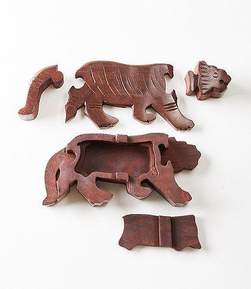 Tiger Puzzle Box