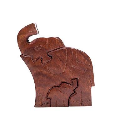 Mama Elephant Puzzle Box