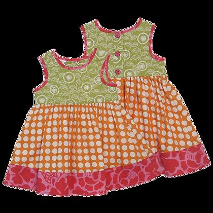 Sun Dress with Orange Dots