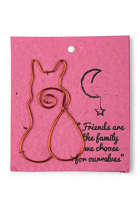 Wire Cat Gift Bookmark
