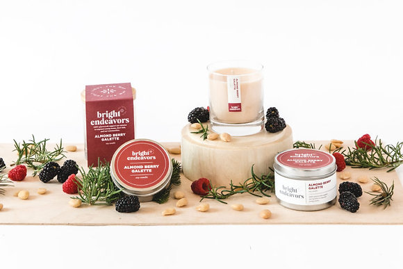 Bright Endeavors Almond Berry Galette Soy Candles