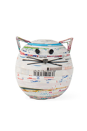 SERRV Coiled Paper Cat Box
