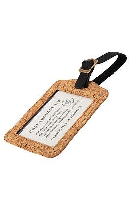 Cork & Leather Luggage Tag