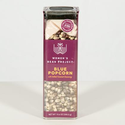 Blue Popcorn with Salted Caramel Seasoning