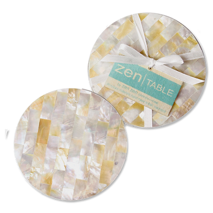 Mother of Pearl Coasters, Set of 4