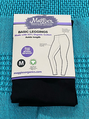 Organic Leggings Black - Ankle (SM-XXLG)