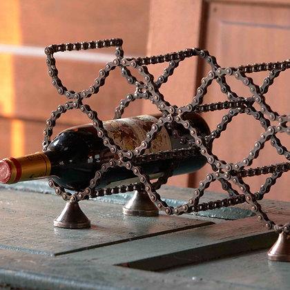 Bike Chain Wine Rack