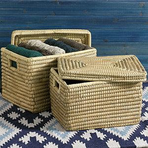 SERRV Nesting Kaisa Grass Baskets (XL) Set of 2