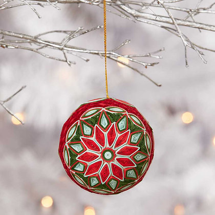 SERRV Quilled Red Ball Ornament
