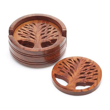 SERRV Tree of Life Coasters - Set of 4