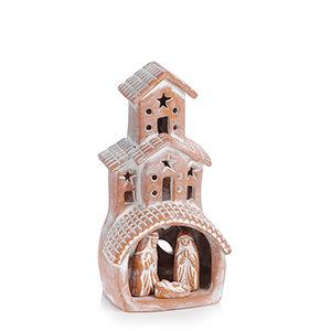 SERRV Terracotta Chimney Nativity