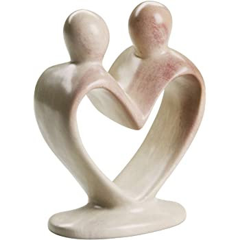 Natural Soapstone Lover's Heart